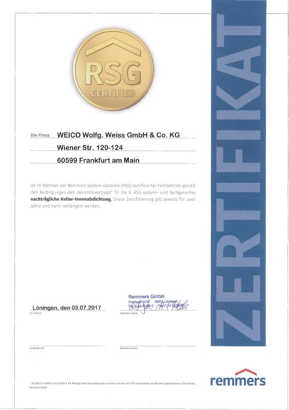 Zertifikat Keller