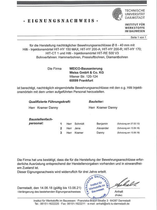 Eignungsnachweis TU Darmstadt